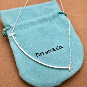 Tiffany & Co. Silver Large T Smile Necklace